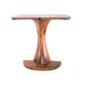 Le comptoir de bar queue de baleine sans rangement dans le piétement, en bois de Rauli  - 50 cm x 120 cm x 110 cm - LAST-MQU110