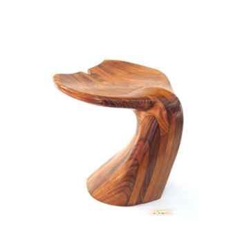 Tabouret de salon - Queue de baleine en bois de Rauli - Hauteur 40 cm - LAST-MQU040-R