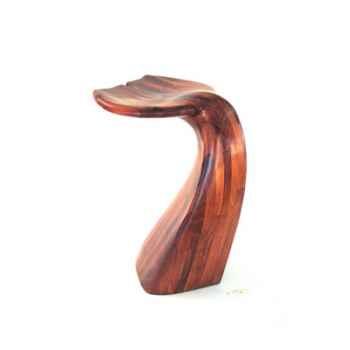 Tabouret de bar - Queue de baleine en bois de Rauli - Hauteur 77 cm - LAST-MQU077-R