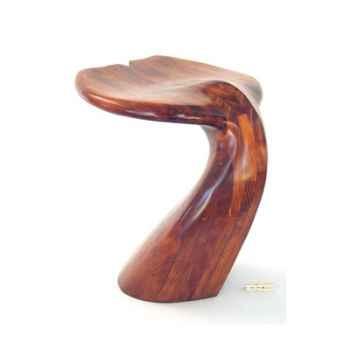 Tabouret de table - Queue de baleine en bois de Rauli - Hauteur 50 cm - LAST-MQU050-R