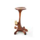 tabouret de bar poulpe 5 pieds corps droit en bois de rauli hauteur 77 cm last zta0775 r