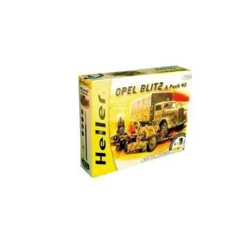 Maquette opel blitz & pack 40 heller -49994