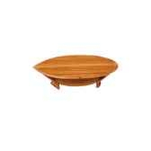 table basse lignes de pont 135 cm x 65 cm plateau coque de bateau avec etagere last mli135 r