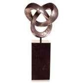 sculpture trifoigarden sculpture bronze nouveau bs3410nb alabnp