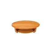table basse lignes de pont 120 cm x 60 cm plateau elliptique avec rangement et une porte last mli120p r