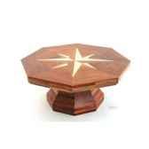 table basse la rose des vents plateau hexagonaen bois de rauli 90 cm x 40 cm last mro090 r