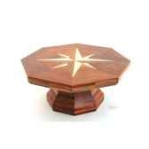table basse la rose des vents plateau hexagonaen bois de rauli 110 cm x 45 cm last mro100 r