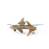 le requin en pin 105 cm x 42 cm x 43 cm last mre105 p