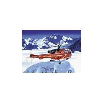 Maquette alouette iii sécurité civile heller -80289