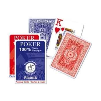 100% plastic poker Piatnik-jeux 136108