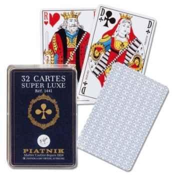 32 cartes, boîte cristal Piatnik-jeux 144127