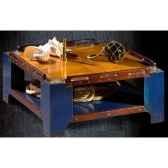 table basse de pont petit modele avec patine epoque 19eme 100 x 34 x 100 cm ca 002b