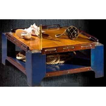 Table basse de 'Pont' petit modèle, avec patine, époque 19ème - 100 x 34 x 100 cm - CA-002b
