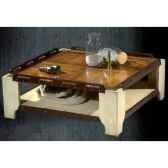 table basse de pont petit modele avec patine epoque 19eme 100 x 34 x 100 cm ca 002pc