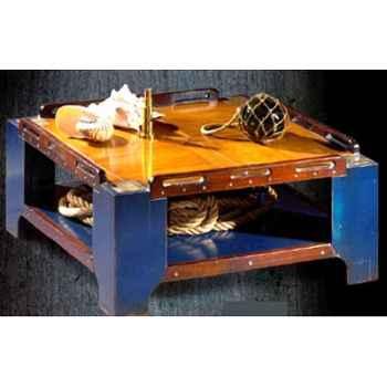 Table basse de 'Pont' petit modèle, sans patine, époque 19ème - 100 x 34 x 100 cm - CA-002bpc