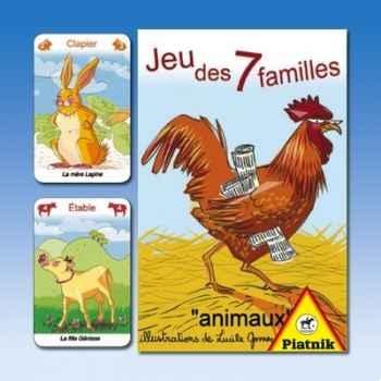 Jeu de 7 familles animaux de la ferme Piatnik-jeux 488214