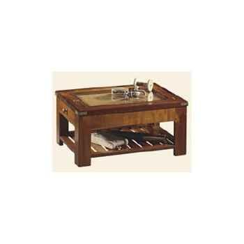 Table de 'Roof' tiroir et carte, avec patine, époque 19ème - 55 x 40 x 80 cm - SQ-049b
