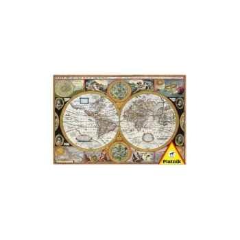 Vieille carte du monde Piatnik-jeux 549595