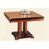 table de repas square avec patine avec 1 allonge de 50 cm epoque 19eme 120 x 78 x 120 cm sq 059b