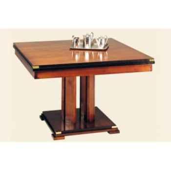 Table de repas 'Square', avec patine, avec 1 allonge de 50 cm, époque 19ème - 120 x 78 x 120 cm - SQ-059b