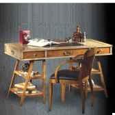 table de timonier avec patine epoque 19eme dessus cuir 140 x 78 x 70 cm co 083