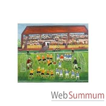 Puzzle Le match de football Puzzle Michèle Wilson M980-40
