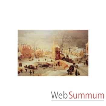 Puzzle Paysage hivernal bruegel Puzzle Michèle Wilson A125-1200