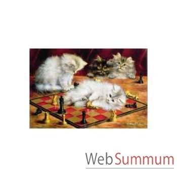 Puzzle Les chats a l'echiquier Puzzle Michèle Wilson A968-250