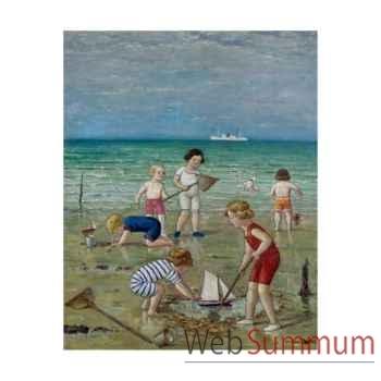 Puzzle Enfants sur la plage Puzzle Michèle Wilson A993-250