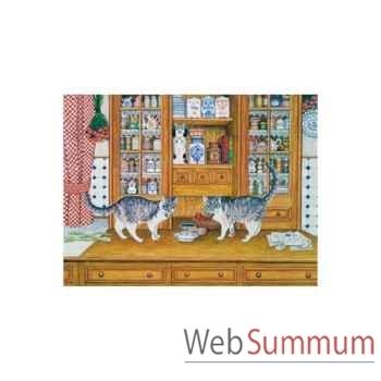 Puzzle Des chats bien dresses s Puzzle Michèle Wilson A931-650
