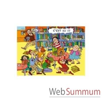 Puzzle La bibliotheque tomt&nana Puzzle Michèle Wilson W117-100