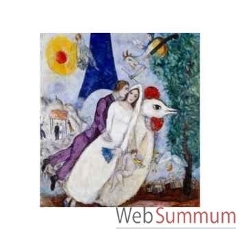 Puzzle Les maries de la tour eif Puzzle Michèle Wilson W109-24
