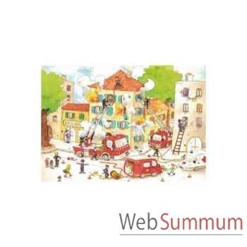 Puzzle Les pompiers cacouault Puzzle Michèle Wilson W113-50