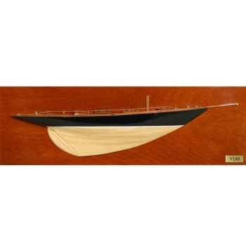 Maquette Voilier demie coque-Yum - DCYUM 50 cm
