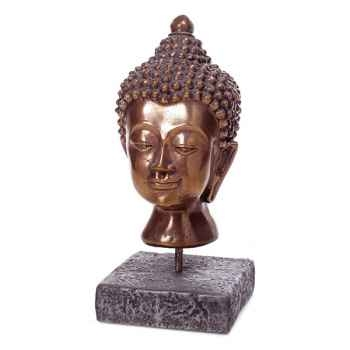 Sculpture Buddha Head, pierres romaine combinés au fer -bs3139ros -iro