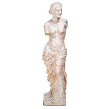 Sculpture Venus de Milo, pierre albâtre blanc -bs3135alaw