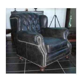 Fauteuil ardingley en cuir couleur café h 890 x 920 x 970 Arteinmotion POL-ARD0031