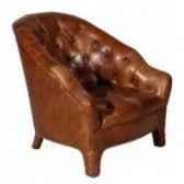 fauteuibranco en cuir couleur cognac h 740 x 695 x 825 arteinmotion pobra0057