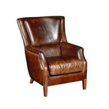 Fauteuil chelsea en cuir couleur cigare h 1000 x 800 x 960 Arteinmotion POL-CHE0003