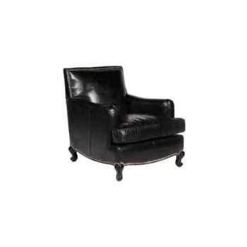 Fauteuil cannes en cuir noir h 860x 900 x 810 Arteinmotion POL-CAN0027