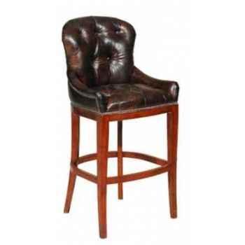 Tabouret pour bar en cuir couleur cigare h 1210 x 580 x 560 Arteinmotion SED-BAR0016