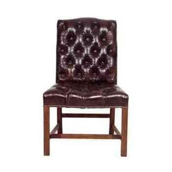 Chaise regensy en cuir couleur cigare h 970 x 600 x 670 Arteinmotion SED-REG0004