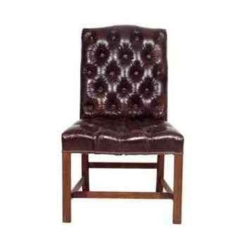 Chaise regensy en cuir couleur cigare h 910 x 490 x 580 Arteinmotion SED-REG0007