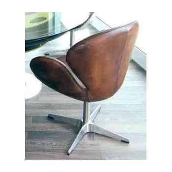 Chaise devon en cuir couleur whisky h 910 x 700 x 590 Arteinmotion SED-DEV0009