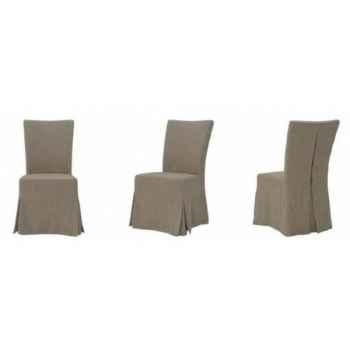Chaise provenza en tissu rayé h 950 x 480 x 610 Arteinmotion SED-PRO0018