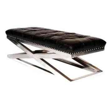 Appuis-pieds san diego en cuir noir h 450 x 1420 x 570 Arteinmotion POG-SAN0002