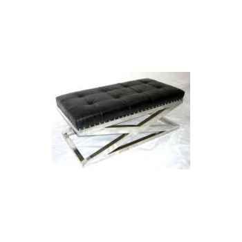 Appuis-pieds san diego en cuir noir h 450 x 1110 x 570 Arteinmotion POG-SAN0003