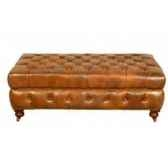 appuis pieds bensington en cuir couleur cognac h 440 x 1500 x 900 arteinmotion pog ben0013