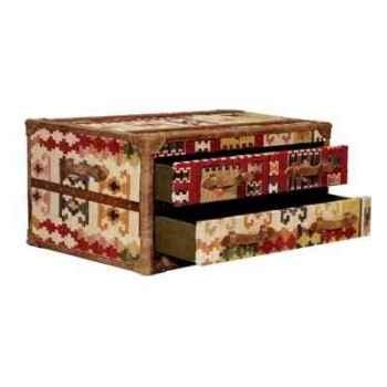 Table basse stonyhurst en kilim avec 3 tiroirs h 450 x 1010 x 600 Arteinmotion TAV-STO0016