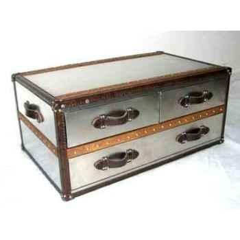 table basse stonyhurst en acier brillant avec 3 tiroirs h 450 x 1010 x 600 arteinmotion tav sto0031. Black Bedroom Furniture Sets. Home Design Ideas